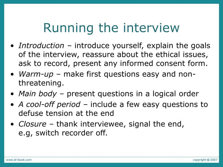 Running the interview