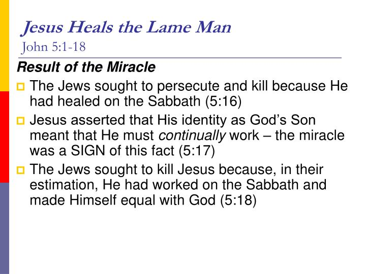 Jesus Heals the Lame Man