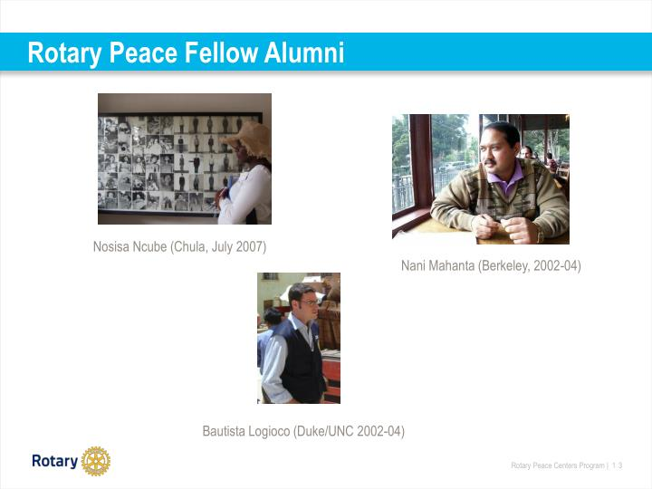 Rotary Peace Fellow Alumni