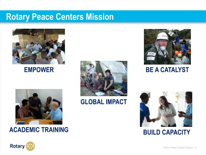 Rotary Peace Centers Mission