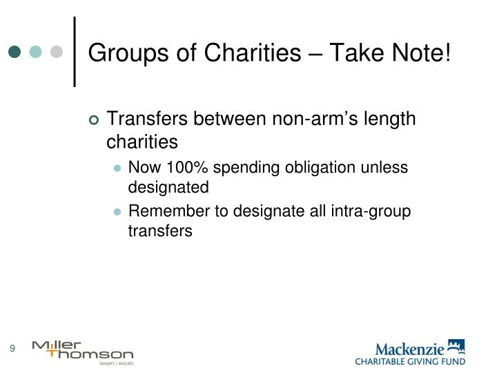 Groups of Charities – Take Note!