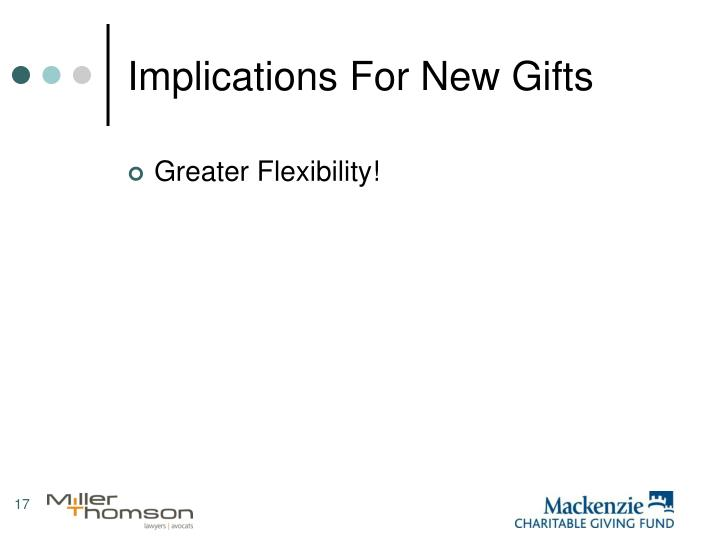 Implications For New Gifts