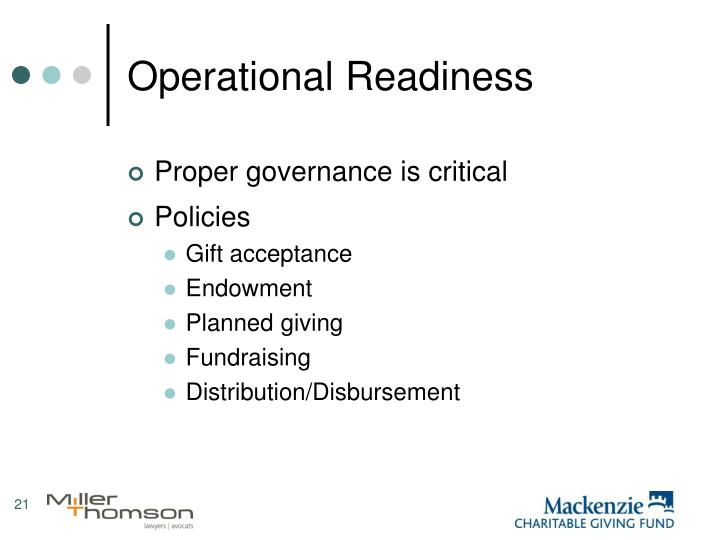 Operational Readiness