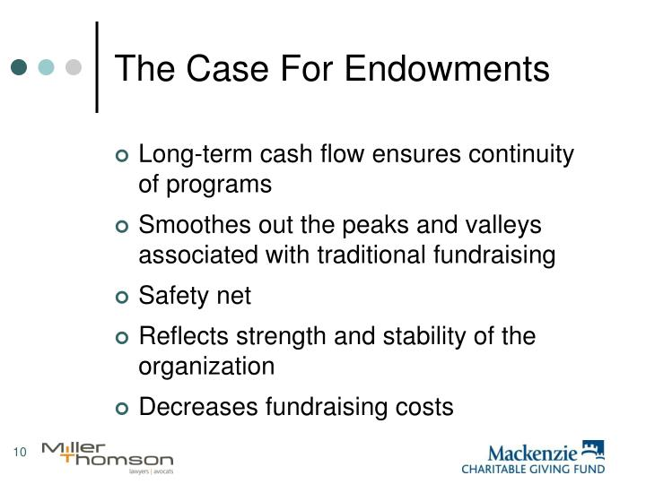 The Case For Endowments