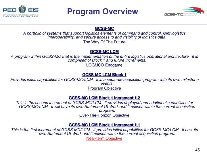 PPT - Global Combat Support System-Marine Corps (GCSS-MC) Block 1 Release 1.1 System ...