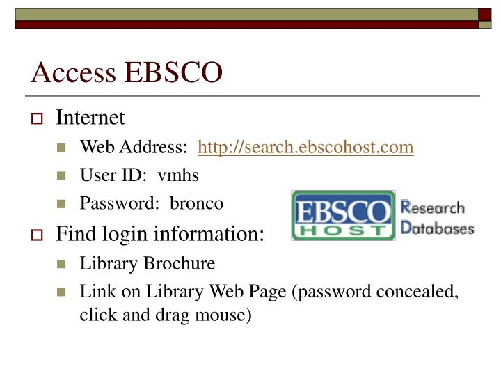 Access EBSCO