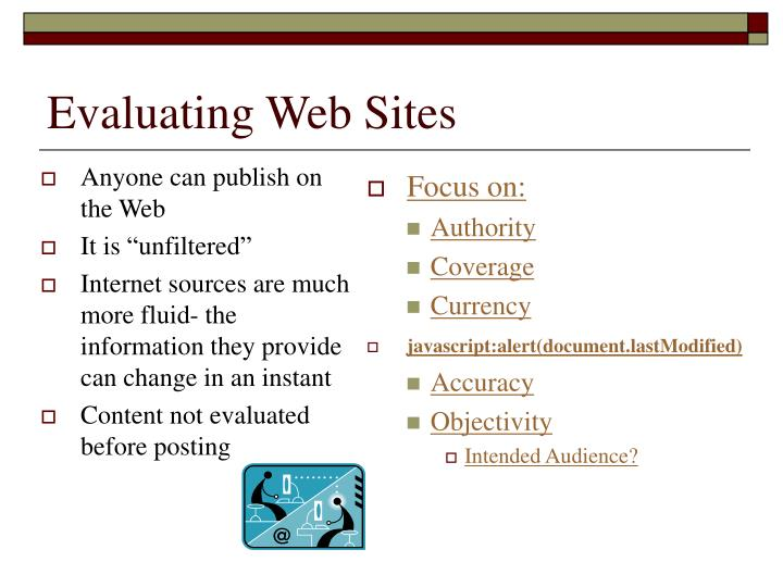 Anyone can publish on the Web
