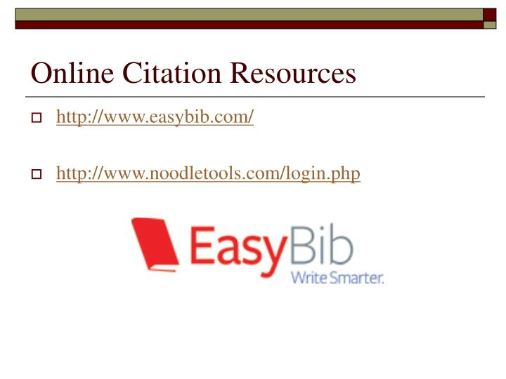 Online Citation Resources