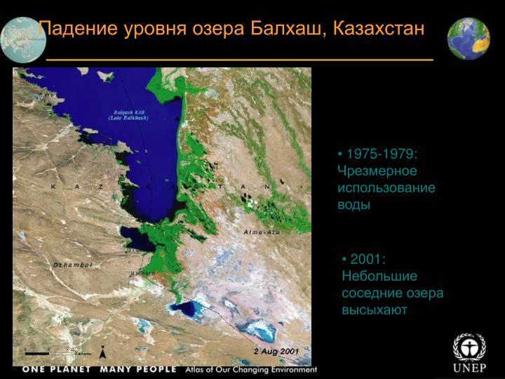 Падение уровня озера Балхаш, Казахстан