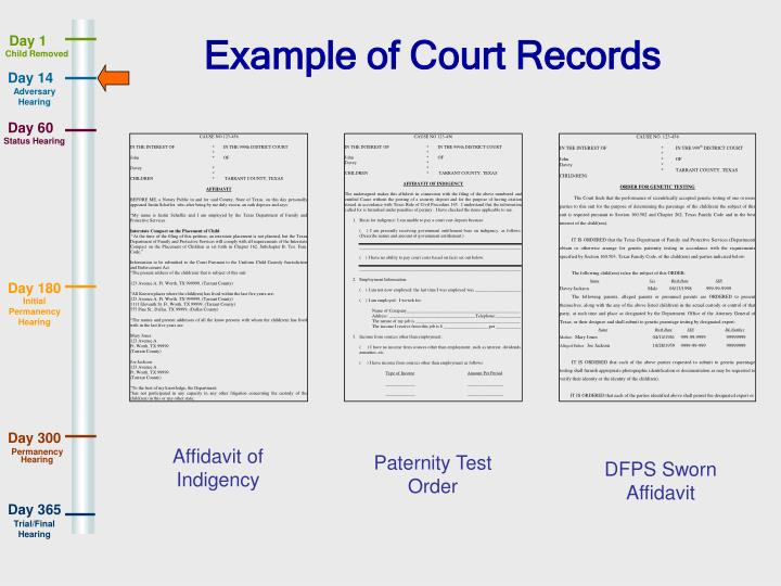 Example of Court Records