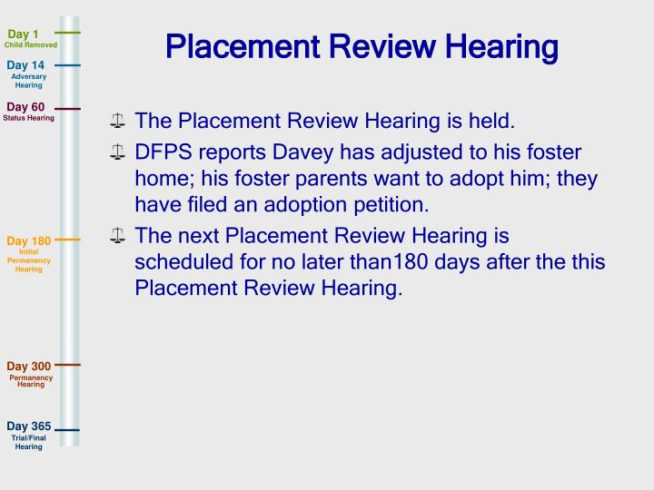 Placement Review Hearing