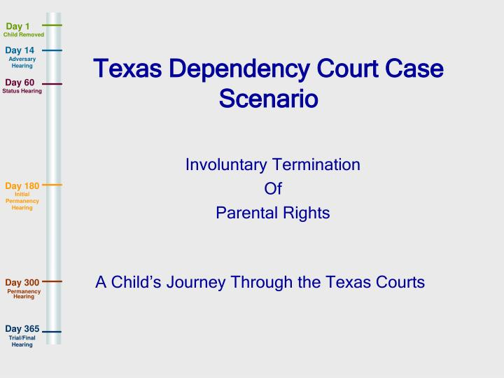 Texas Dependency Court Case Scenario