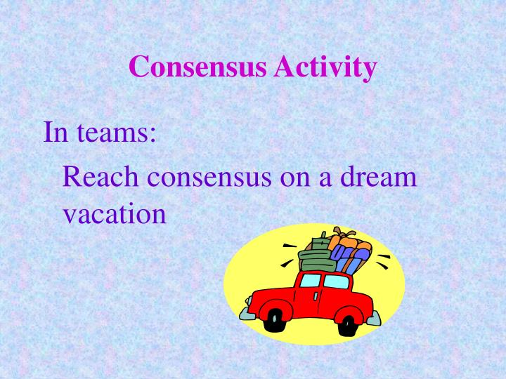 Consensus Activity