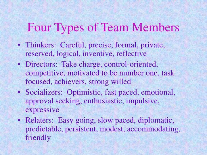Four Types of Team Members
