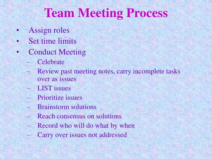 Team Meeting Process