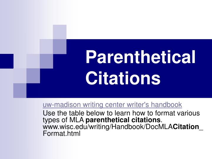 parenthetical citations n.