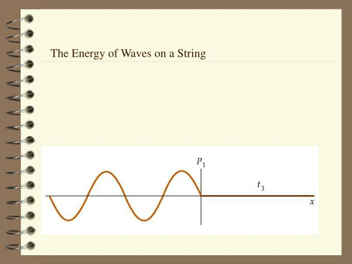 The Energy of Waves on a String
