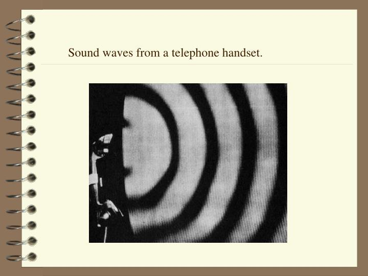 Sound waves from a telephone handset.