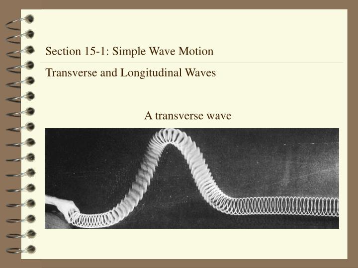 Section 15-1: Simple Wave Motion