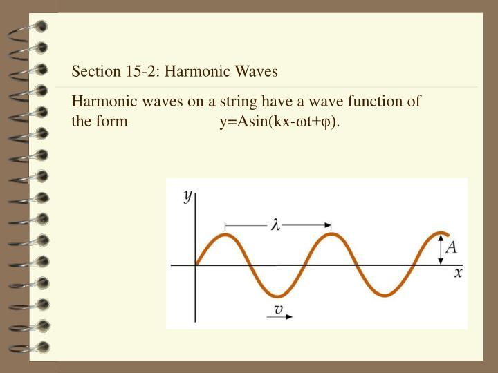 Section 15-2: Harmonic Waves