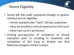 permit eligibility
