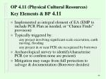 op 4 11 physical cultural resources key elements bp 4 11