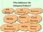 who influences the safeguard policies