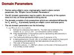 domain parameters