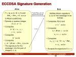 eccdsa signature generation