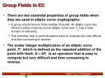 group fields in ec