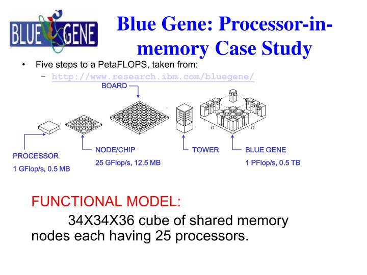 Blue gene processor in memory case study