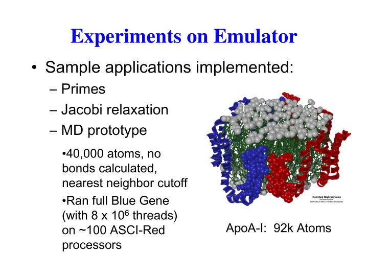 Experiments on Emulator
