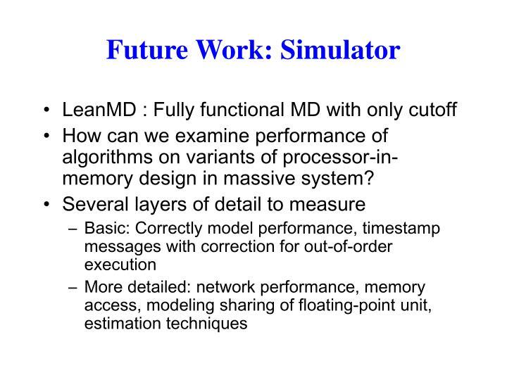 Future Work: Simulator