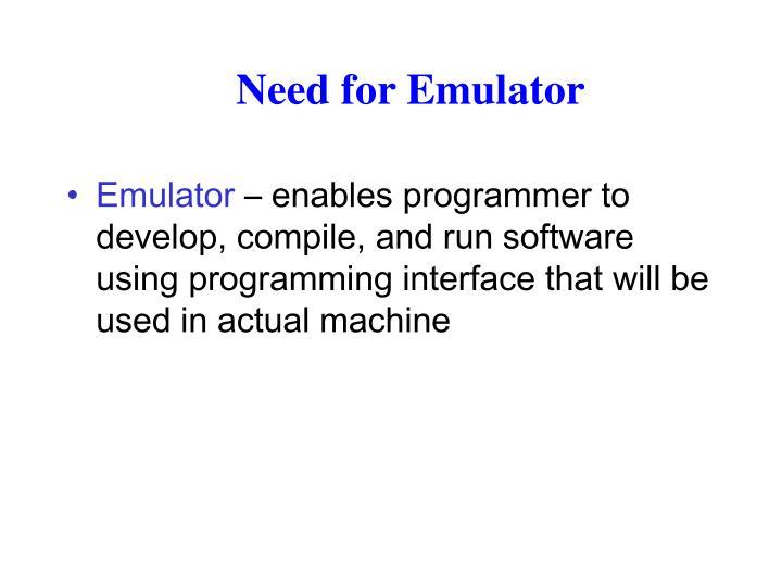 Need for Emulator