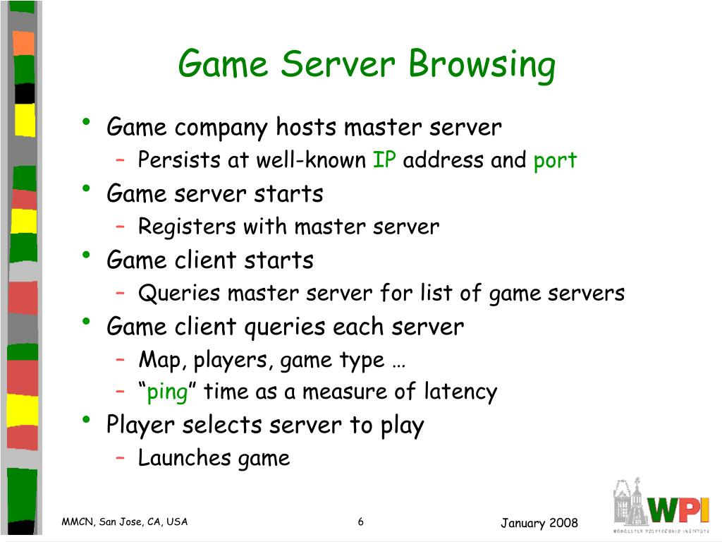 PPT - Network Characteristics for Server Selection in Online Games