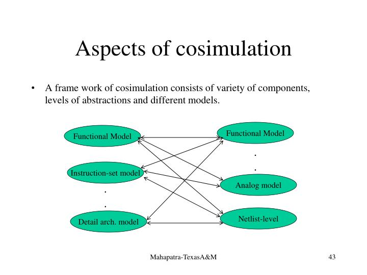 Aspects of cosimulation