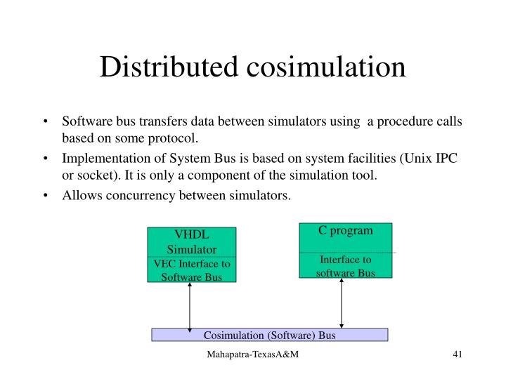Distributed cosimulation
