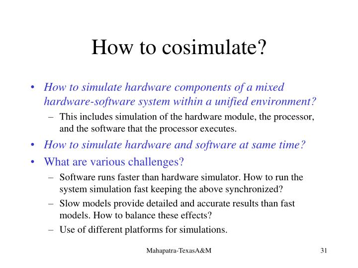 How to cosimulate?