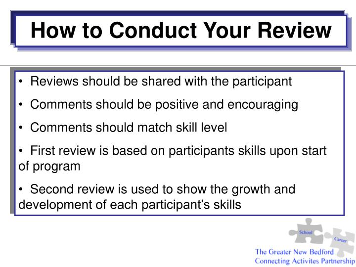How to Conduct Your Review