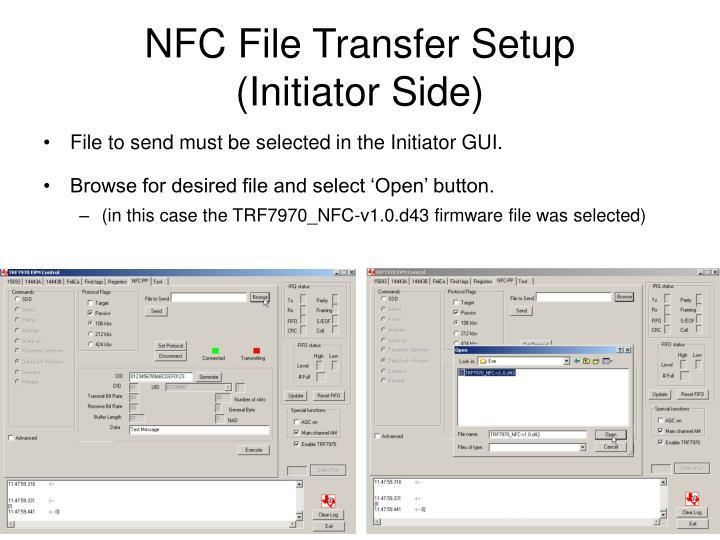 NFC File Transfer Setup