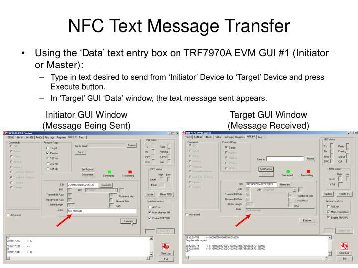 NFC Text Message Transfer