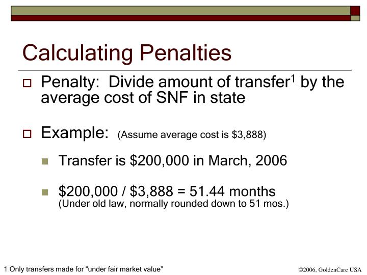 Calculating Penalties