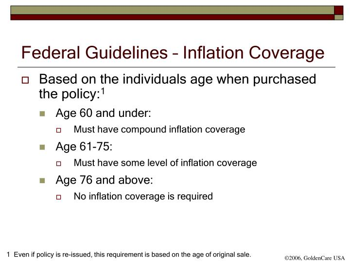 Federal Guidelines – Inflation Coverage