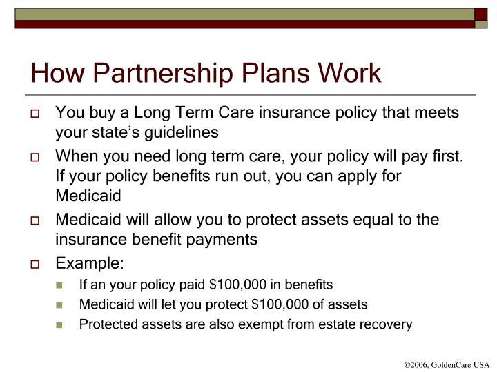 How Partnership Plans Work
