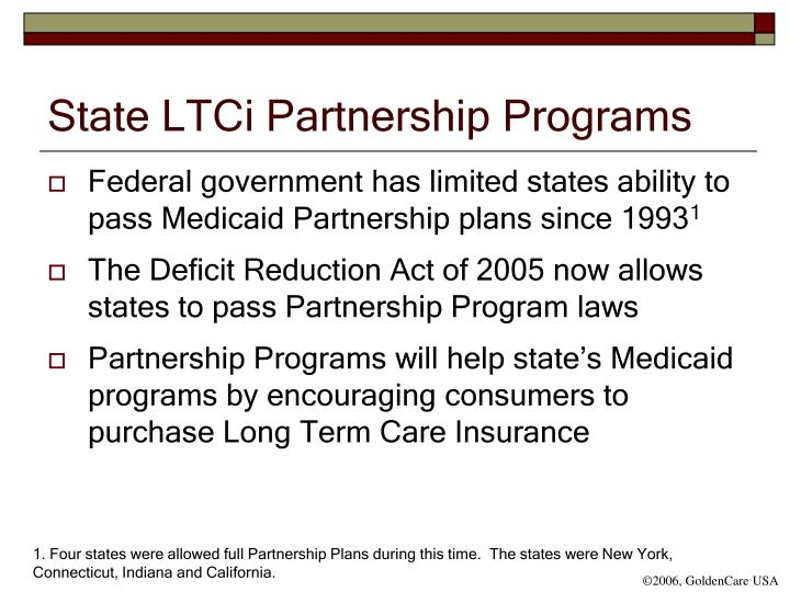 State LTCi Partnership Programs