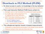 drawback to fli method flim