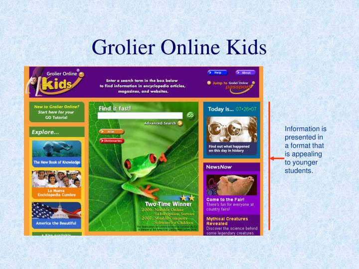 Grolier Online Kids