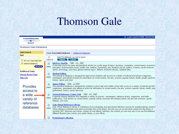 Thomson Gale