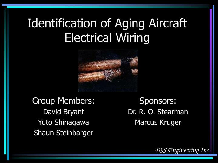 Groovy Ppt Identification Of Aging Aircraft Electrical Wiring Powerpoint Wiring Cloud Hisonuggs Outletorg
