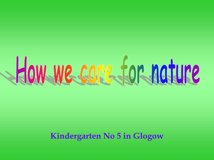 Kindergarten no 5 in glogow